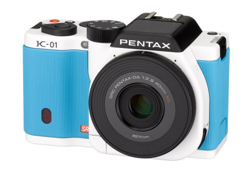 Pentax K-01 in powder blue