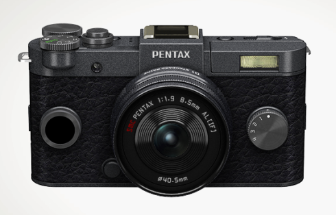 Pentax Q-S1 in what looks like gunmetal gray